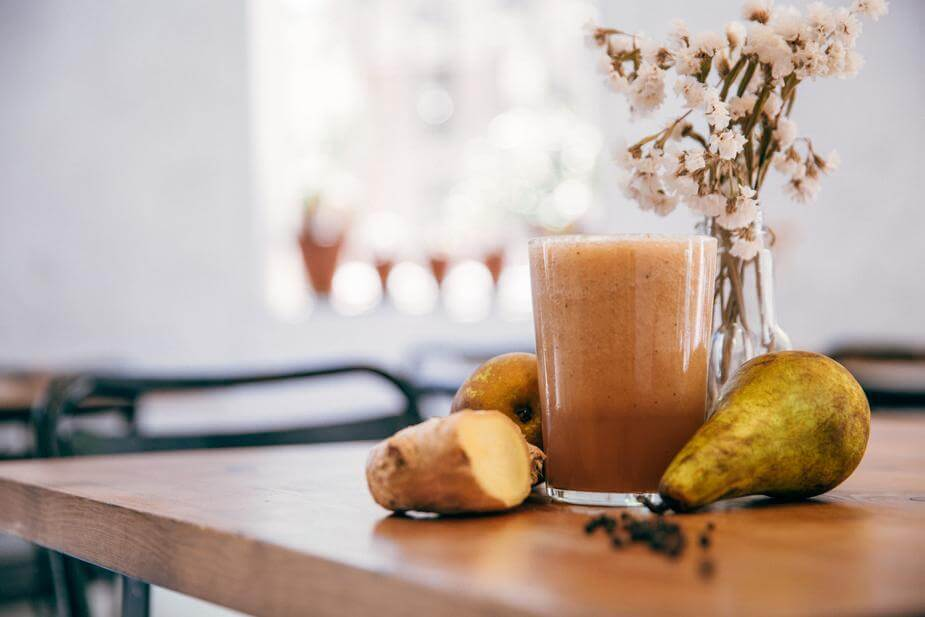 a ginger smoothie to boost immunity.
